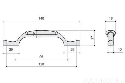 Ручка-скоба 96-128 мм