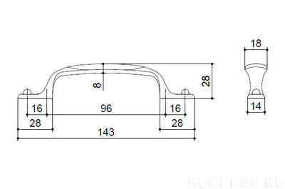 Ручка-скоба 96/128 мм